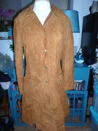 Rust Vintage Jacket Duster Suede 14 Coat xpn4nqa5
