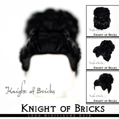 LEGO Minifigure Hair BLACK 53126 Female Girl Coiled with Large High Bun