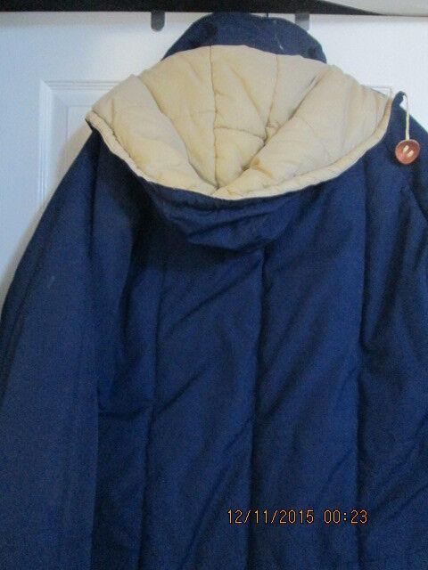 Uomo's Winter Cappotto Size w L blu w Size zipoff hood Nuovo w/o tags 0d7700