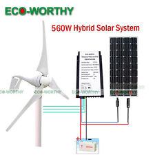 560W/H Hybrid System: 400W Wind Turbine Generator + 160W PV Solar Panel for Home