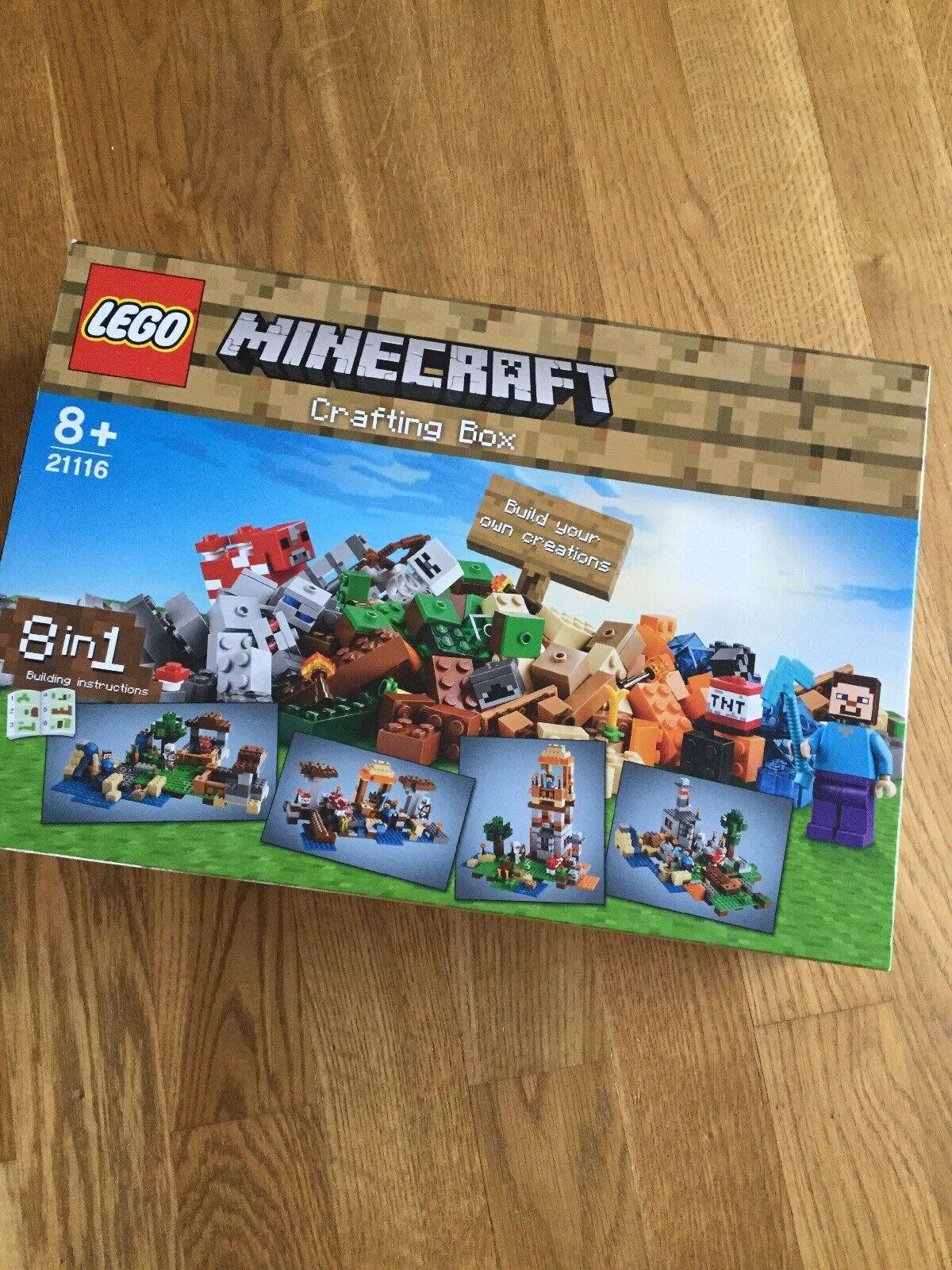 LEGO MINECRAFT 21116 Crafting Box mit BA und mit OVP komplett