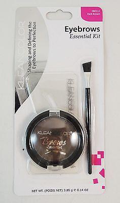 kleanColor Eyebrow Kit - 3 Eyebrows Stencils, 1 Eyebrow Powder, 1 Brush Kit