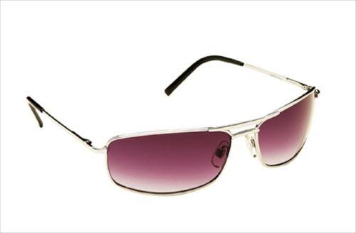 Case UV400 Sunglasses Classic Vintage Silver Metal Designer Retro Pilot