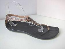 Crocs Sexi wild Flip Sandale leo schwarz  W 7 37 38  sandals thongs black gold