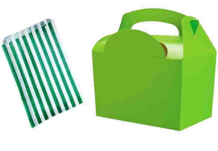 Vert Citron-Fête Boîtes D'Anniversaire AliHommes ts Repas Déjeuner Boîtes Citron-Fête & Free Candy Sweet Cake Bag 8f99e1