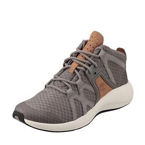 c8672117963 Mens Timberland Flyroam Go FL Chukka Boots Grey Mid Top Sneaker ...