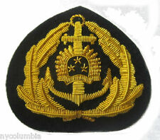 LATVIA NAVY OFFICER HAT CAP BADGE NEW HAND EMBROIDERED CP MADE FREE SHIP USA