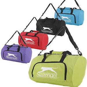 Slazenger Sports Gym Holdall Bag Travel Lightweight Luggage ...