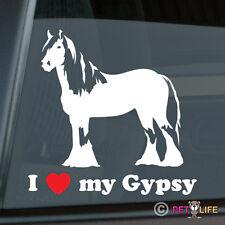I Love my Gypsy Sticker Die Cut Vinyl - Ver 2 Irish Cob Coloured Tinker Horse