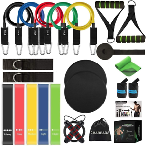 23 PCS Resistance Bands Set With Handles Exercise Tube Workout Bands