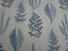 Sanderson Curtain Fabric  'Angel Ferns' Indigo 2.4 METRES (240cm) 100% Cotton