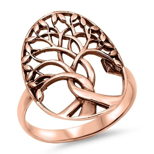 USA Seller Tree of Life Ring Sterling Silver 925 Best Price Jewelry Rose Gold