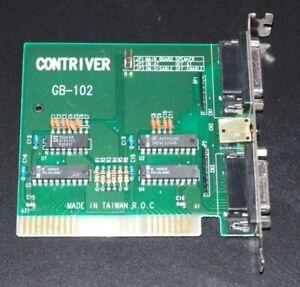 XT 8-bit ISA Contriver GB-102  dual joystick game port card