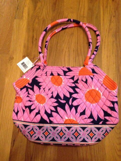 60ebf0878a Vera Bradley Angle Tote Purse Bag Handbag in Loves Me Breast Cancer Pattern