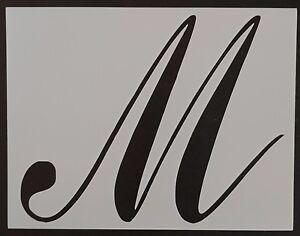 Large Big Script Cursive Letter M 11 X 8 5 Custom Stencil Fast