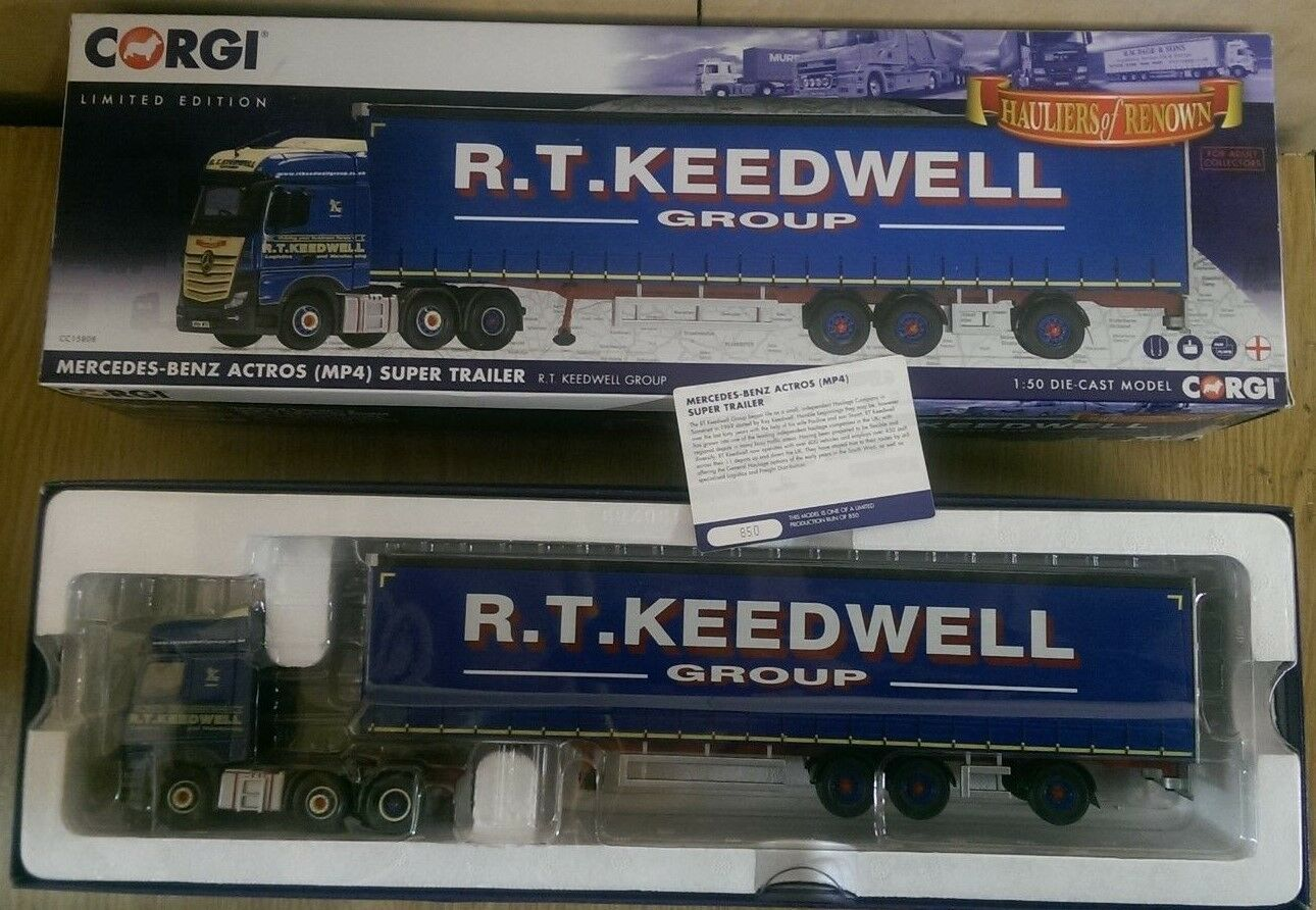 CORGI CC15808 Mercedes. Benz Actros MP4 Super remorque RT Keedwell LTD ED 850 de 850