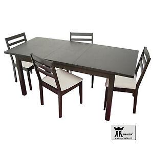 Tavolo allungabile Legno cucina e soggiorno e 4 sedie B | eBay