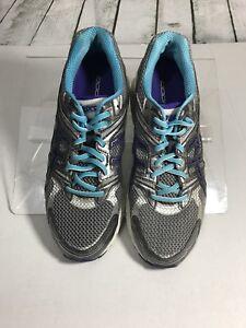 da8404b81968 ASICS GT-1000 Women Titanium Iris Turquoise Running Sneakers Shoes ...
