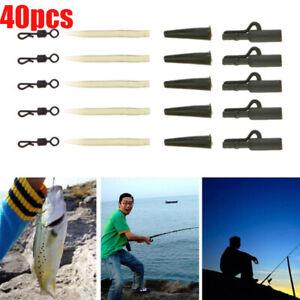 40pcs Safety Lead Clip Quick Change Swivels Carp Fishing Tackle Lock Pins Sets