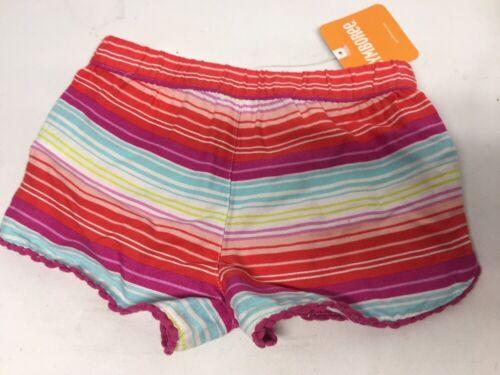 GYMBOREE Striped Fun Baby Toddler Girls Shorts 18-24 Months NWT Waists Elastic