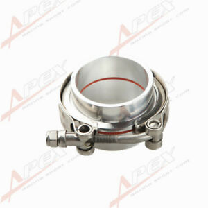 2-034-V-Band-Vband-Clamp-Aluminum-Flange-Flanges-Turbo-Intercooler-Piping-Kit