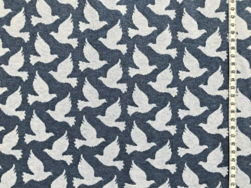 "Albstoffe Doves Fly /"" blau Hamburger Liebe Jacquard-Jersey /"" Tender Kiss"