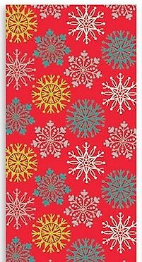 Modern Christmas Gift Wrapping Paper Red Silver White Gold Snowflakes 2x5m 10m