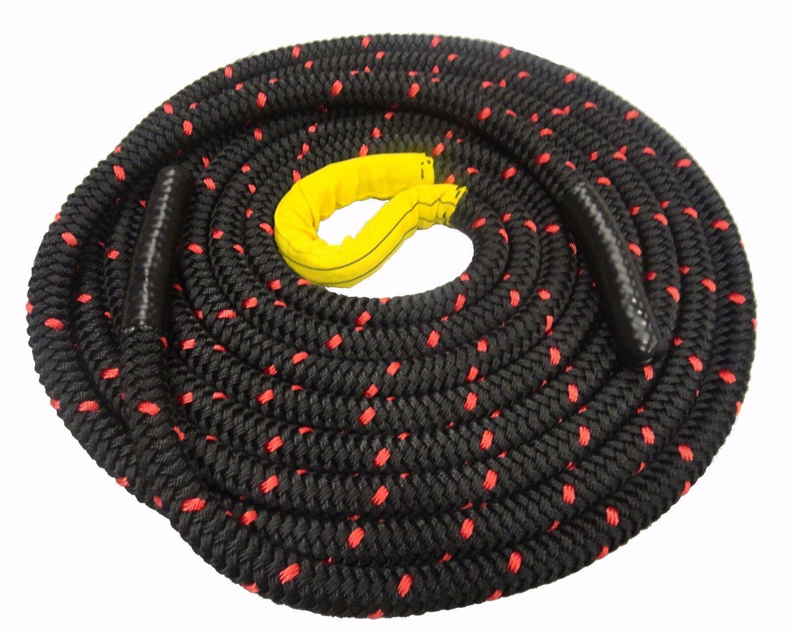 Negro Ejercicio de batalla luchando cuerdas, entrenamiento de Fitness, Gimnasios, botacamps 36-40 mm