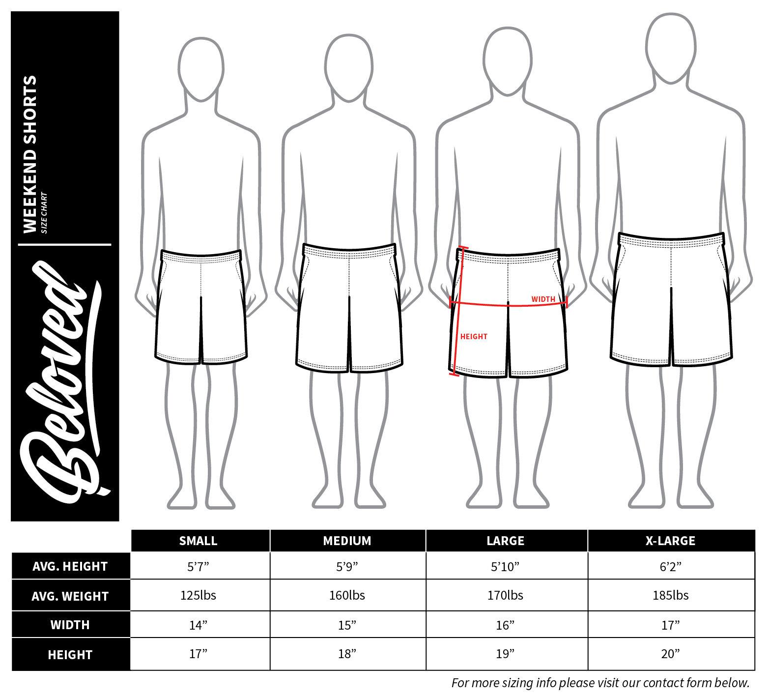 Neu mit Etiketten Beloved Eagle Wochenenden Shorts Shorts Shorts S-Xl Hand   Mittel Preis  3599fa