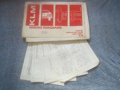 1985 1986 Volkswagen Vw Cabriolet Scirocco Wiring Diagrams Schematics Set Ebay