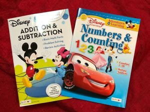 2 Math Workbooks Counting /& Numbers Addition /& Subtraction Teacher Supply Disney
