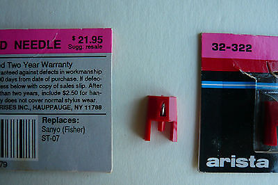 Turntable Replacement Needle Sanyo ST-07 Stylus New Arista Fisher