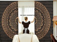 Ethnischen Mandala indischen Stil Zentrum Muster Kunst Vorhang 2 Platten Set