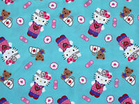 Hello Kitty Nurse Medical Fabric Polyester Cotton Blend Great For Scrubs Yardage