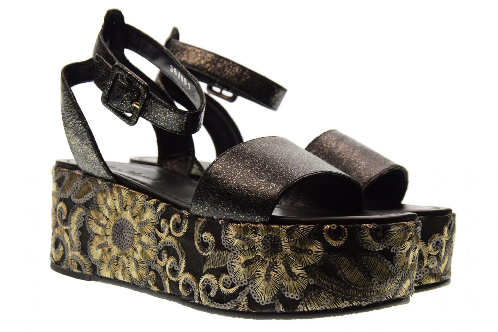CRIS vergre 'Chaussures Femme Sandales h0802x Noir p18g