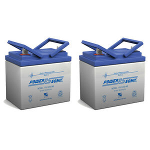 Power-Sonic-2-Pack-12V-33-35Ah-Sealed-Lead-Acid-Battery-w-NB-Terminal
