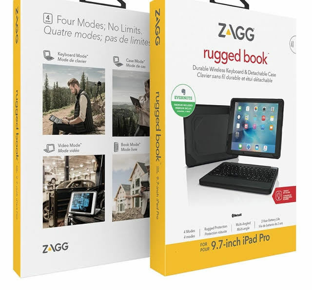 Zagg Rugged Book Pro Magnetic Hinged Bluetooth Keyboard And Case For Le