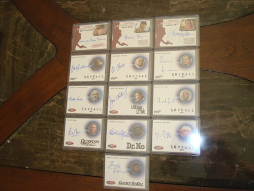 James Bond Archives 13 cards autographs lot