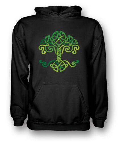 Tribale Celtico Albero della Vita Simbolo-Uomo Felpa con Cappuccio
