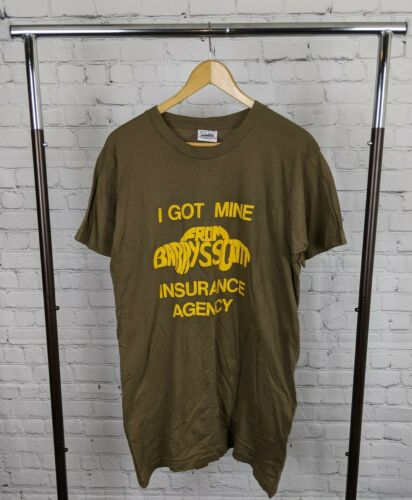 "Vintage Single Stitch Insurance T-shirt ""Barry M S"