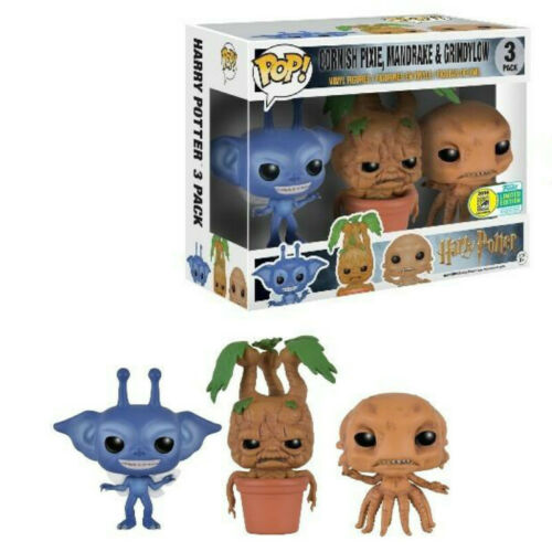 Funko Pop Harry Potter Cornish Pixie Mandrake Grindylow 3 Packung