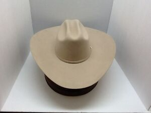 2eade896efb Image is loading Stetson-Cowboy-Hat-6X-Beaver-Fur-SilveBelly-High-
