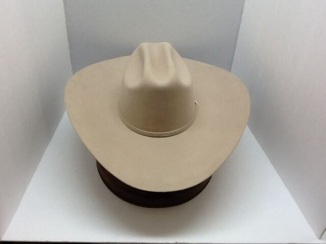 67a961a0 Stetson Cowboy Hat 6X Beaver Fur SilveBelly High Noon 5