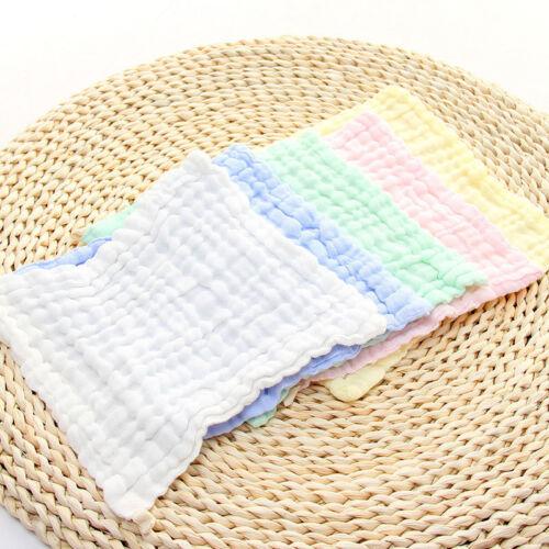 Baby Kids Muslin Washcloths Natural Cotton Wipes Bibs Washing Face Towel Home