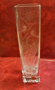 Vase aus Kristall Geschnitzt Hand - Cristallerie Friedhof - Bourbon-Lancy