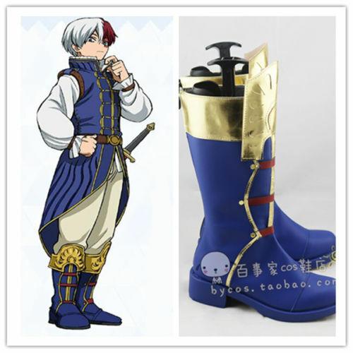 Boku no Akademia My Hero Academia Todoroki Shoto Prince Cosplay Shoes Cos Boots*