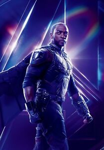 Avengers Infinity War Textless Character Poster Sam Wilson Falcon Anthony Mackie Ebay