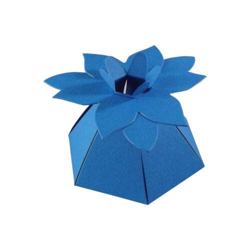100 10 Flor Top Boda favor Cajas-Elija El Color-elegir cantidad-Sc16 50