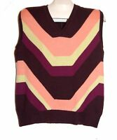 Missoni Purple Yellow Orange Striped Men's Italy Vest Sz Us 42 Eu 52 Ret$450