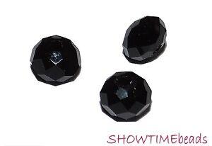 Glasschliffperle-Rondell-6x4mm-20-Stueck-schwarz
